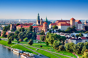 Krakow cityscape