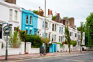 Row of UK houses