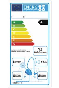 Vacuum cleaner energy label