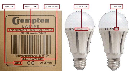 Crompton Lamps Recall