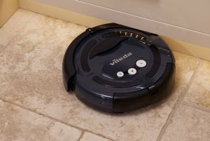 Vileda Robot Cleaner on a stone floor