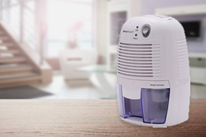Dehumidifier in a living room