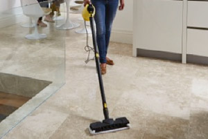 Karcher SC1 steam cleaner with mop attachment
