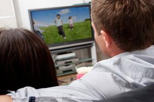 couple watching digital TV