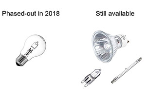 Halogen light bulbs phased out in 2018
