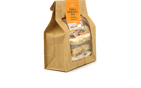 M&S Chicken & Bacon Smoked Bacon Salad sandwich