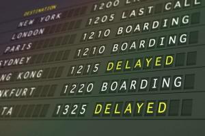 Flight delay image