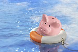 Piggy bank rescue, safe savings