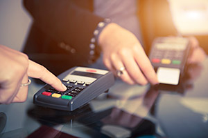 Paying for a purchase using a chip and pin device