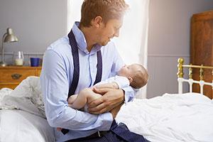 Dad on shared parental leave