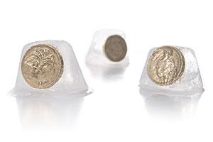frozen pound coins