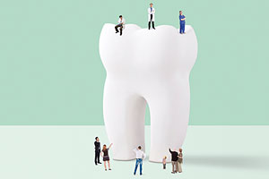 NHS dentists and large tooth