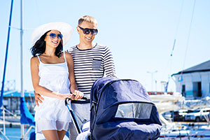 Pushchair on holiday