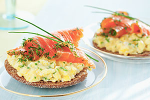 Salmon and scrambled egg