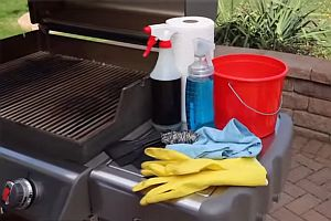 Barbecue cleaning kit