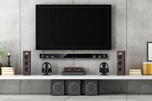 Home cinema with soundbar