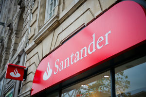 Santander branch with Santander logo