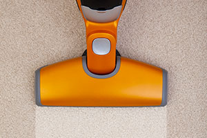 Vacuum floorhead cleaning carpet