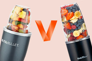 Image of the Nutribullet and Nutriblend blenders facing off against each other