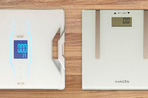 Tanita RD-901 Body Composition Monitor (left)and the Hanson H902 Fat Analyser (right)