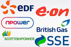 Logos of the big six energy companies