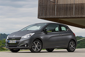 Peugeot 208 with textured paint