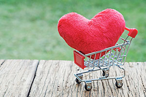 Heart in a supermarket trolley
