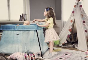 Children and travel cot