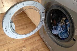 Exploded washing machine door