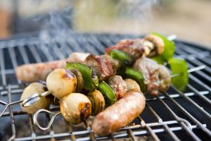 Barbecued food infused with smoky flavour
