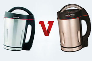 Head to head image of Salter vs Morphy Richards soup makers