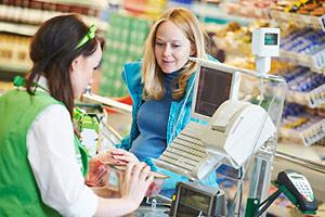 Supermarket tills