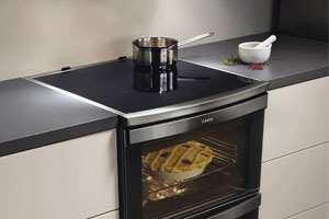 An induction cooker being used in the kitchen.