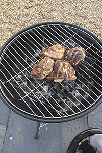 Lidl Florabest Kugelgrill round barbecue cooking