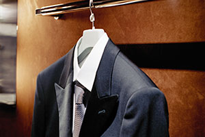 Image of a hanging suit
