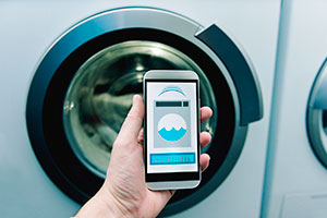 phone controlling washing machine