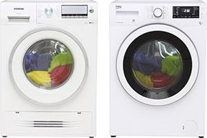 Siemens and Beko washer dryers