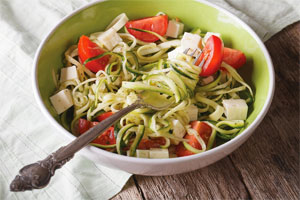 Courgetti meal in a bowl