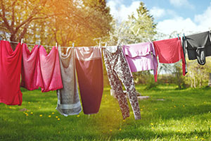 washing on clothes line