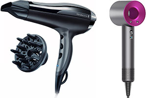 Remington and dyson hairdryers