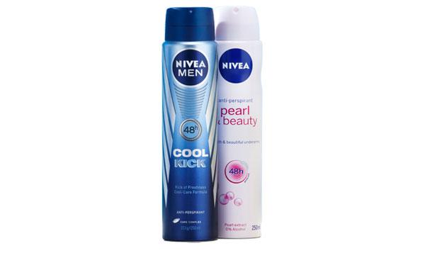 Nivea Cool Kick and Nivea Pearl deodorants