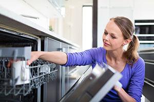 dishwasher being loaded