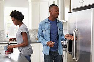 An American fridge freezer