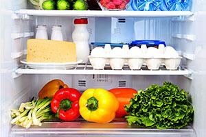 Food in a fridge freezer