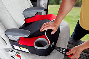Installing a backless booster seat