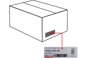 Serial number Recaro packaging box