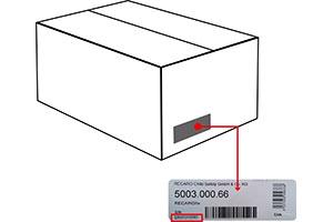 Serial number Recaro packaging box