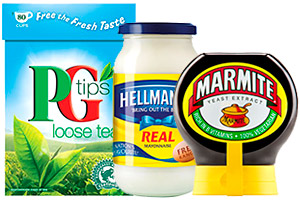 Unilever products including Marmite