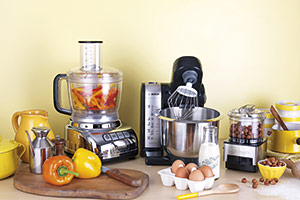 Food processor and mixer side by side