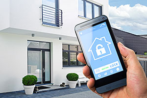 Smart home security system app